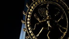 Image of Shiva, deity of buddhism religion, rotating with smoke on background stock footage