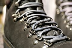 An Image of a shoelaces. Shoes, fashon, foot, Lifestyle - abstract Stock Photography