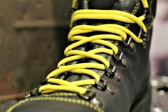 An Image of a shoelaces. Shoes, fashon, foot, Lifestyle - abstract Royalty Free Stock Images
