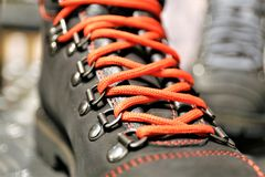 An Image of a shoelaces. Shoes, fashon, foot, lifestyle - abtract Royalty Free Stock Image