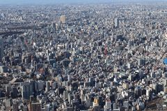Tokyo city view from Tokyo Skytree royalty free stock image