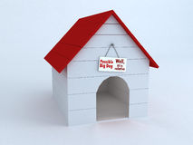 Image showing a Dog´s House. 3D render showing a dog´s house Royalty Free Stock Images