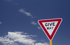 Give Way Stock Images