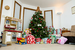 Image showing a house during christmas morning Stock Photos
