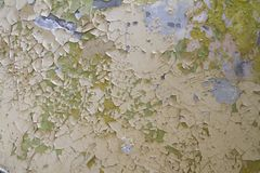 Old paint peeling and cracked stock photo