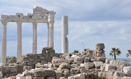 Apollo Temple, Side, Turkey Royalty Free Stock Photography
