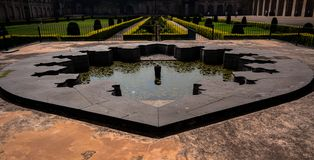 Fountain inside the Bidar Fort in Karnataka, India stock photos