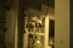 The chandelier of the birds royalty free stock images