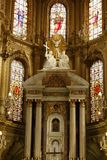 Close-up of the altar of Cathedral in Leon, Guanajuato. Vertical View royalty free stock images