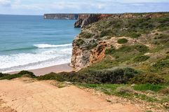 Coast of Algarve with beach, Portugal, Europe Royalty Free Stock Photos