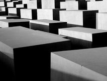Berlin, Holocaust Memorial, Denkmal für die ermordeten Juden Europas. This image shows a detail of the Memorial to the Murdered Jews of Europe. Picture taken in Stock Photos