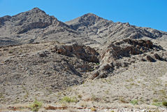 Frenchman Mountain, site of the Great Unconformaty near Las Vegas, Nevada. Royalty Free Stock Image