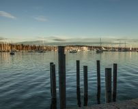 Marina in Oslo - waters and skies. Stock Image