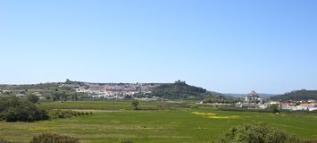 Landscape of the Castle of Obidos Royalty Free Stock Images