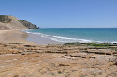 Beach of Luz, Algarve, Portugal, Europe Royalty Free Stock Photography