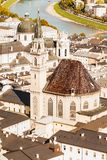 High angle view of Salzburg Cathedral taken from a vantage point royalty free stock photography