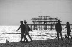 People in Brighton. Stock Photo