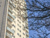 A blue sky, a tall tower. Royalty Free Stock Photos