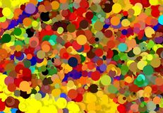 Abstract art texture. Colorful round discs. Colorful texture. Modern artwork. Digital render. Royalty Free Stock Photo