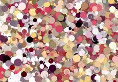 Abstract art texture. Colorful round discs. Colorful texture. Modern artwork. Digital render. Stock Images