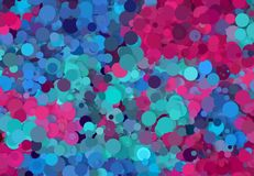Abstract art texture. Colorful round discs. Colorful texture. Modern artwork. Digital render. Image shows various colorful discs in different sizes. Image have Royalty Free Stock Photos