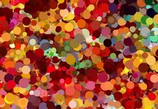 Abstract art texture. Colorful round discs. Colorful texture. Modern artwork. Digital render. Image shows various colorful discs in different sizes. Image have Royalty Free Stock Photography