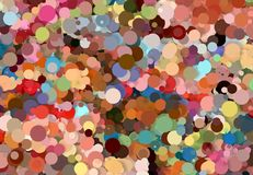 Abstract art texture. Colorful round discs. Colorful texture. Modern artwork. Digital render. Image shows various colorful discs in different sizes. Image have Stock Photography
