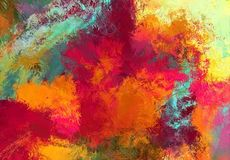 Abstract art sketch texture. Colorful lines digitally drawn. Colorful texture. Modern artwork. Digital painting. Image shows various colorful lines mixed stock illustration
