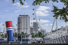 London - a view of the London Eye. Stock Photography