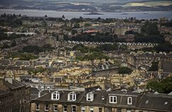 Edinburgh, Scotland - a view from Calton Hill. This image shows a view of the old town in Edinburgh, Scotland. It was taken on a sunny day in summer 2018 royalty free stock photography