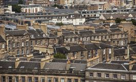 Edinburgh, Scotland - old houses. This image shows a view of some of the buildings in Edinburgh, Scotland, the UK. It was taken on a sunny day in July 2018 stock images