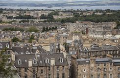 Edinburgh, Scotland - traditional architecture. This image shows a view of some of the buildings of the old town in Edinburgh, Scotland. It was taken on a sunny royalty free stock photos
