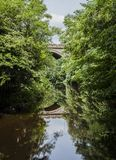 Edinburgh, Scotland - the Water of Leith stream. This image shows a view of the Water of Leith walkway, Edinburgh, Scotland. It was taken on a sunny day in stock image