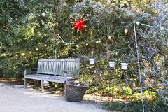 Christmas bench seat Royalty Free Stock Photography