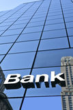 Image sign bank on the facade Stock Image
