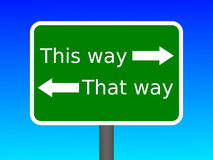 This Way That Way. An image of a sign that says This way and That way Royalty Free Stock Photography