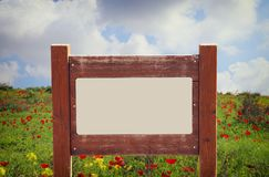 Image of signpost in countryside landscape. Image of signpost in countryside landscape Royalty Free Stock Images
