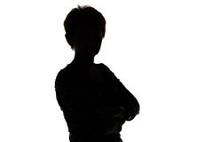 Image of silhouette adult woman Stock Photo