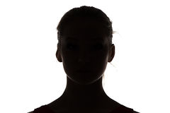 Image of silhouette teenage girl Royalty Free Stock Photo