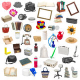Simple collage of isolated objects. Image simple collage of isolated objects on white background Royalty Free Stock Photo