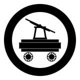 Image simple d'illustration de vecteur de couleur de noir d'icône de Handcar illustration stock