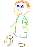 Garçon avec la boule Photo libre de droits