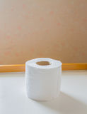 Image of single rolls of toilet paper Royalty Free Stock Images