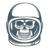 Skull in the space helmet Royalty Free Stock Image