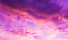Image of sky on evening time with purple tone Stock Image