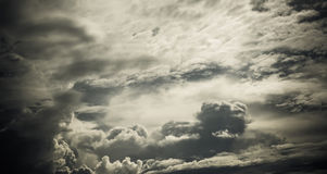 Image of sky with white cloud for background usage Stock Image