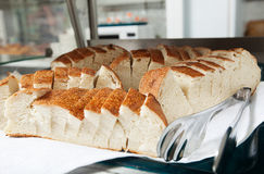 Image of sliced ??bread portions in breadbox Stock Photography