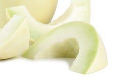 Image of slices of cantaloupe fruits Royalty Free Stock Photos