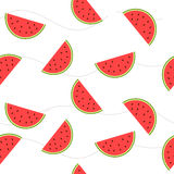 The image slices of watermelon with seeds. Royalty Free Stock Photo