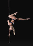 Image of slim graceful pole dancer Royalty Free Stock Photo
